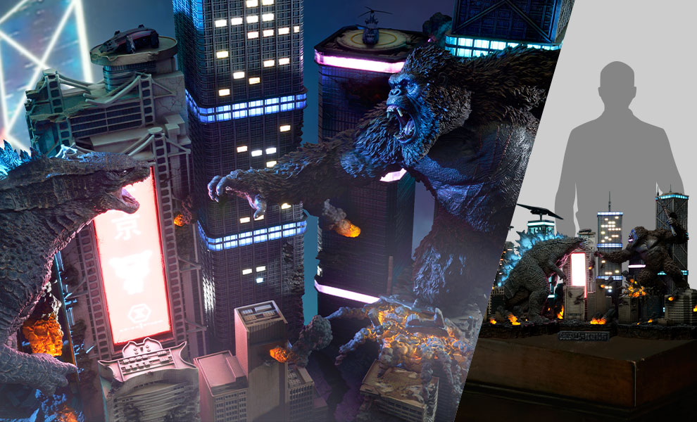Gallery Feature Image of Godzilla vs Kong Final Battle Diorama - Click to open image gallery