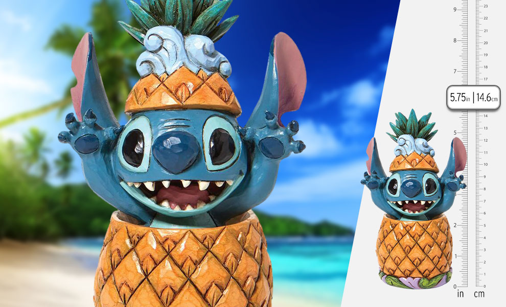 Gallery Feature Image of Stitch in a Pineapple Figurine - Click to open image gallery