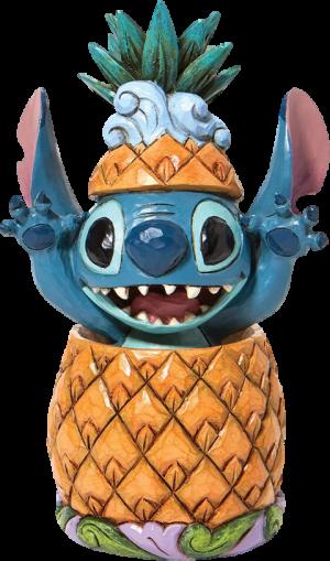 Stitch in a Pineapple Figurine