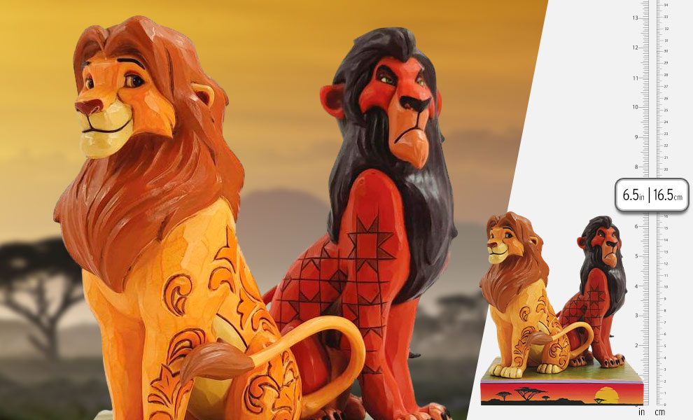 Gallery Feature Image of Simba and Scar Figurine - Click to open image gallery
