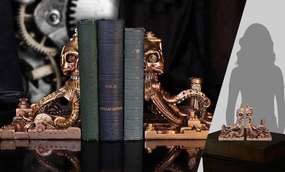 Gallery Feature Image of Octonium Mechanical Octopus Bookends Office Supplies - Click to open image gallery