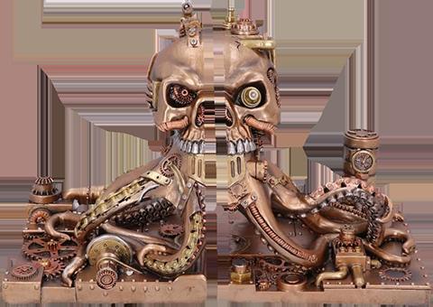 Nemesis Now Octonium Mechanical Octopus Bookends Office Supplies