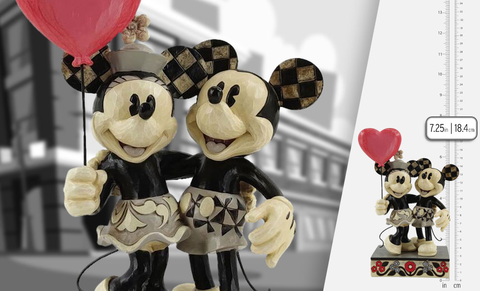 Gallery Feature Image of Mickey and Minnie Heart Figurine - Click to open image gallery