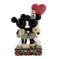 Gallery Image of Mickey and Minnie Heart Figurine