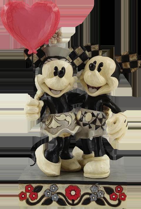 Enesco, LLC Mickey and Minnie Heart Figurine