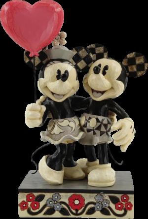 Mickey and Minnie Heart Figurine