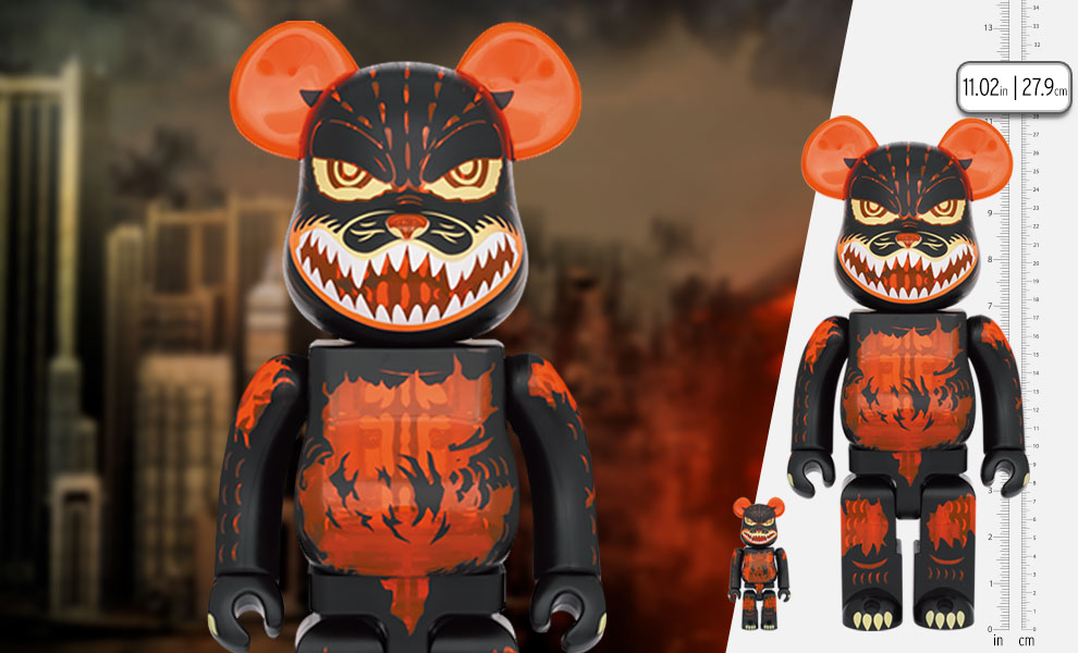 Gallery Feature Image of Be@rbrick Godzilla (Meltdown: Clear Orange Version) 100% and 400% Bearbrick - Click to open image gallery