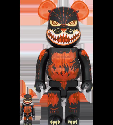 Medicom Toy Be@rbrick Godzilla (Meltdown: Clear Orange Version) 100% and 400% Bearbrick
