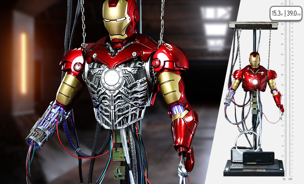 Gallery Feature Image of Iron Man Mark III (Construction Version) Sixth Scale Figure - Click to open image gallery