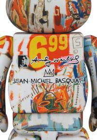 Gallery Image of Be@rbrick Andy Warhol x JEAN-MICHEL BASQUIAT #4 400% Bearbrick