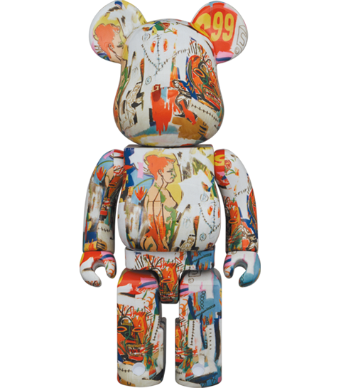 Medicom Toy Be@rbrick Andy Warhol x JEAN-MICHEL BASQUIAT #4 400% Bearbrick