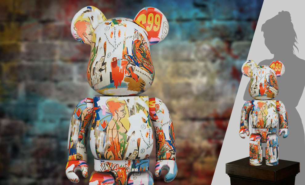 Gallery Feature Image of Be@rbrick Andy Warhol x JEAN-MICHEL BASQUIAT #4 1000% Bearbrick - Click to open image gallery
