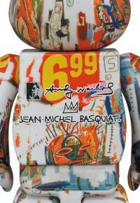 Gallery Image of Be@rbrick Andy Warhol x JEAN-MICHEL BASQUIAT #4 1000% Bearbrick
