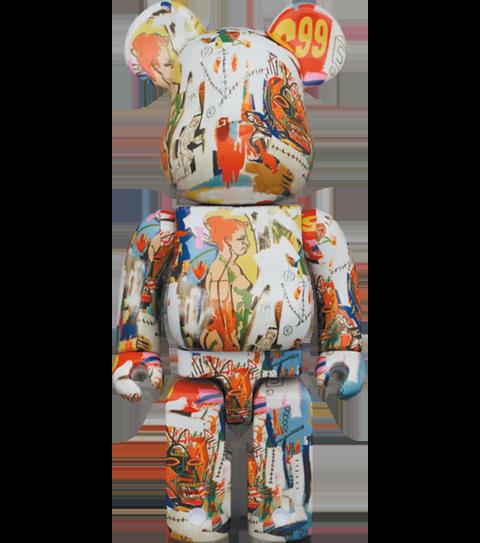 Medicom Toy Be@rbrick Andy Warhol x JEAN-MICHEL BASQUIAT #4 1000% Bearbrick