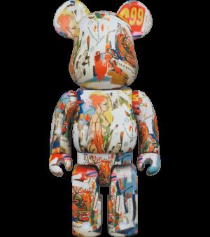 Be@rbrick Andy Warhol x JEAN-MICHEL BASQUIAT #4 1000% Bearbrick