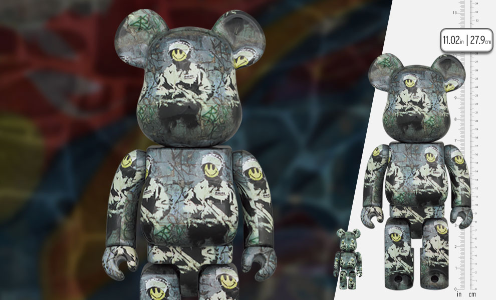 Gallery Feature Image of Be@rbrick Riot Cop 100% and 400% Bearbrick - Click to open image gallery