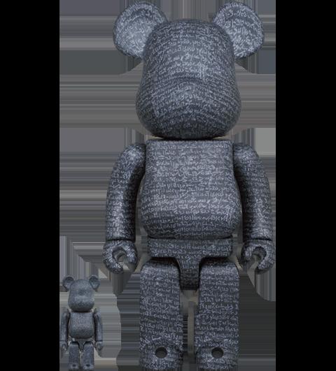 Medicom Toy Be@rbrick The Rosetta Stone 100% and 400% Bearbrick