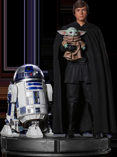 Iron Studios Luke Skywalker, R2-D2 and Grogu Statue