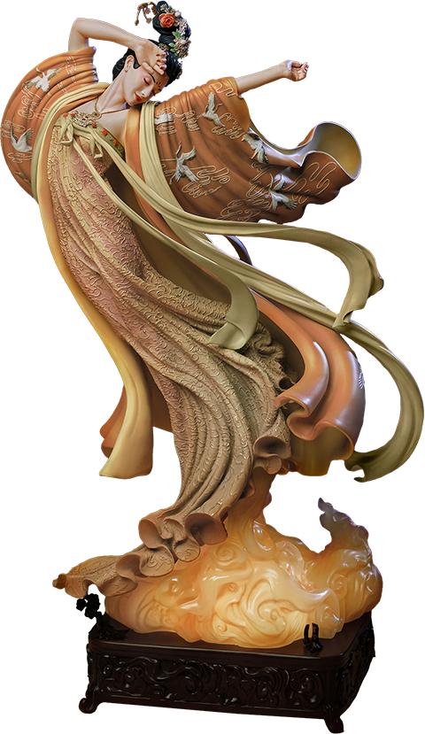 Infinity Studio The Flying Princess Crane Statue Elite Statue