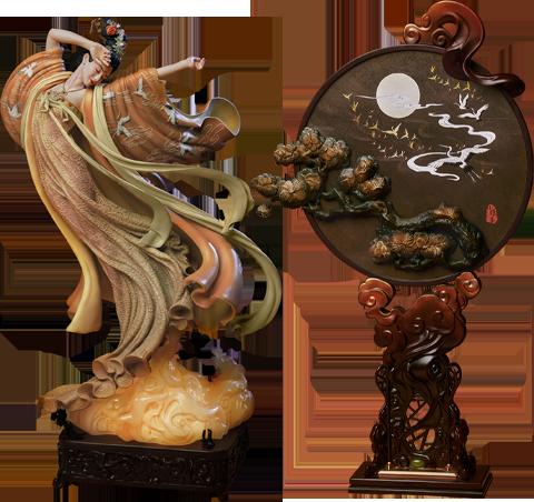 Infinity Studio The Flying Princess Crane Statue Deluxe Statue