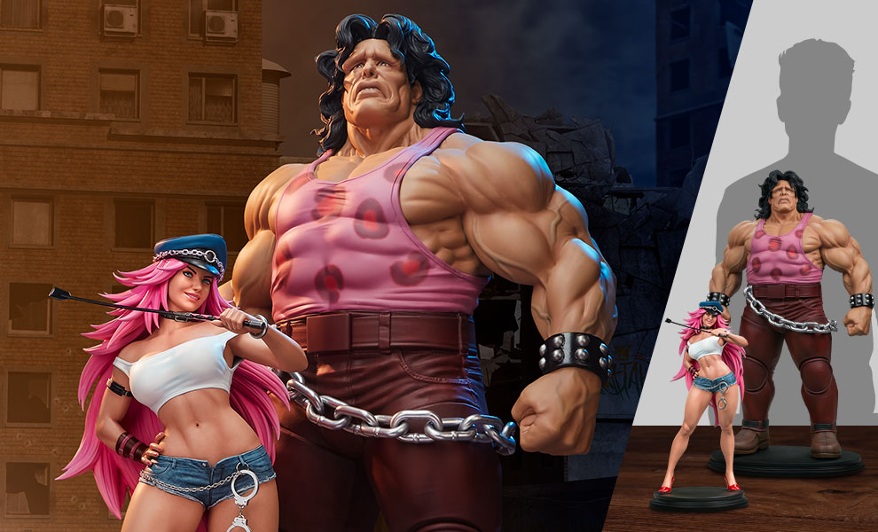 Gallery Feature Image of Mad Gear Exclusive Hugo and Poison Set Statue - Click to open image gallery