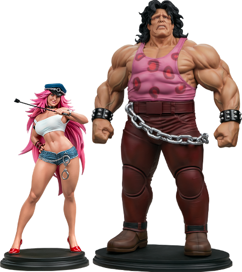 PCS Mad Gear Exclusive Hugo and Poison Set Statue