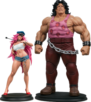 Mad Gear Exclusive Hugo and Poison Set Statue