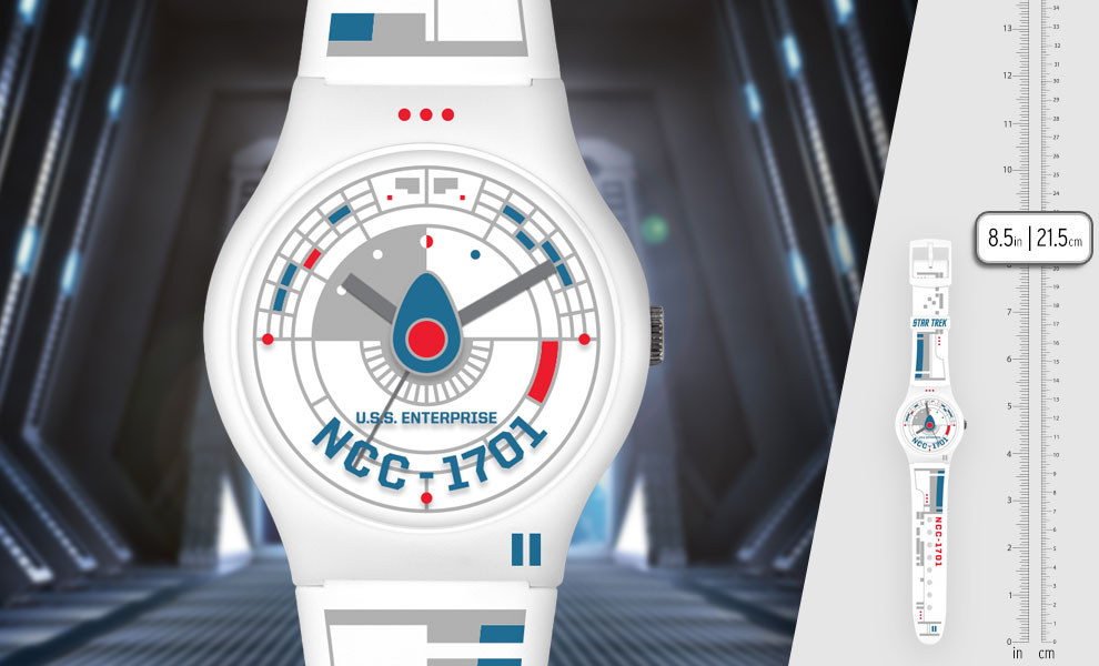 Gallery Feature Image of Star Trek U.S.S. Enterprise White Watch Jewelry - Click to open image gallery