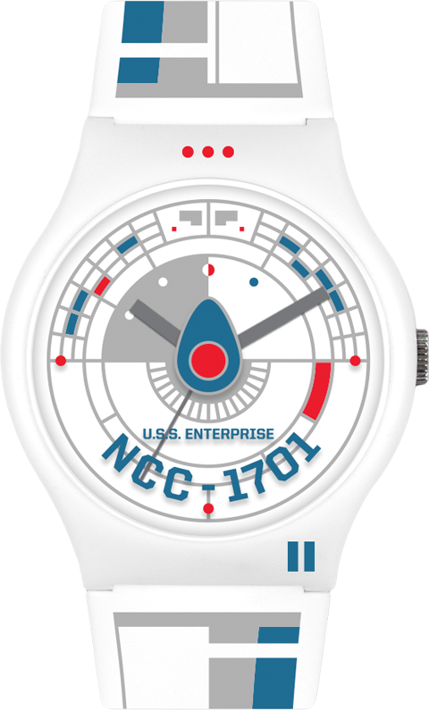 Vannen Star Trek U.S.S. Enterprise White Watch Jewelry
