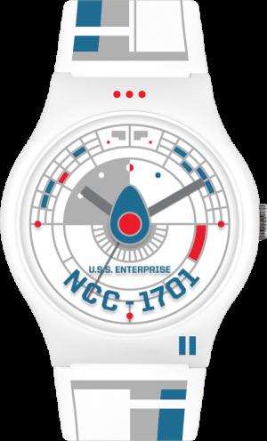 Star Trek U.S.S. Enterprise White Watch Jewelry
