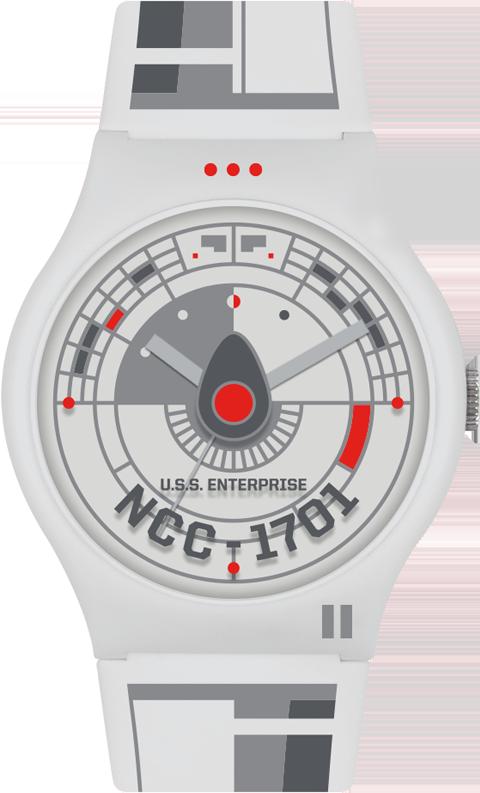 Vannen Star Trek U.S.S. Enterprise Clear Watch Jewelry