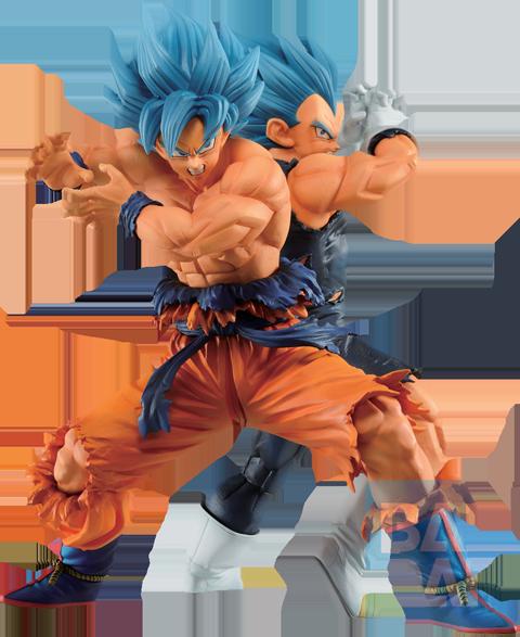 Bandai Super Saiyan God Super Saiyan Son Goku & Vegeta (Vs Omnibus Super) Statue