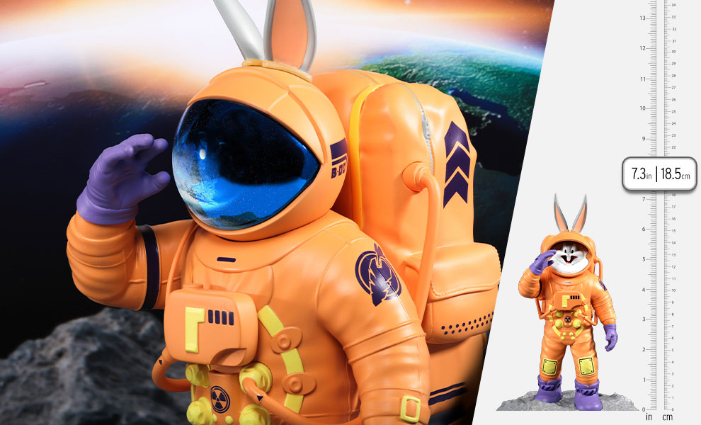 Gallery Feature Image of Bugs Bunny Astronaut Statue - Click to open image gallery