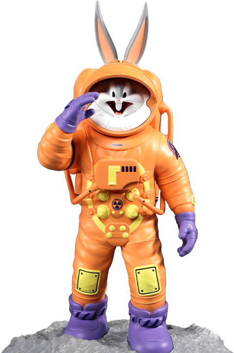 Soap Studio Bugs Bunny Astronaut Statue