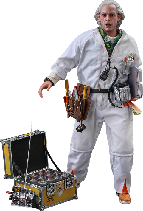 Hot Toys Doc Brown (Deluxe Version) Sixth Scale Figure