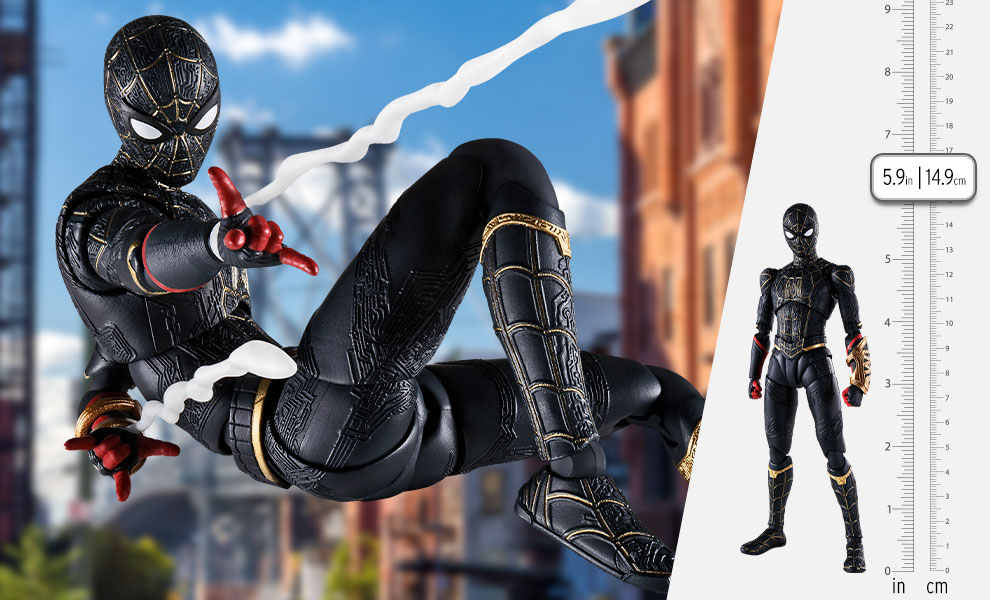 Gallery Feature Image of Spider-Man (Black and Gold Suit) Collectible Figure - Click to open image gallery