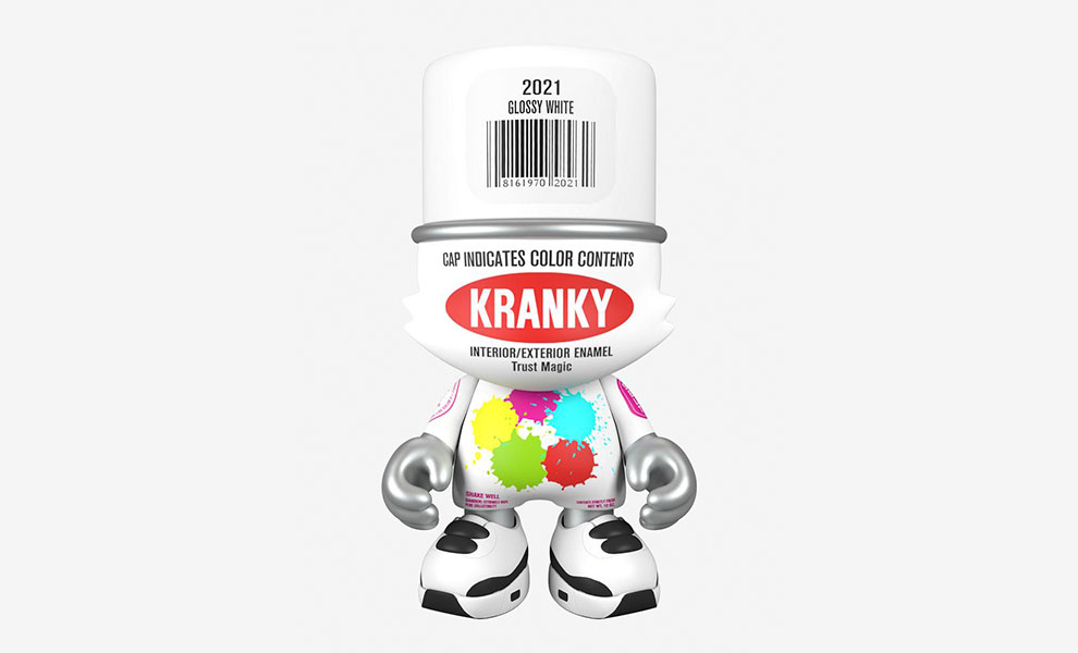 Gallery Feature Image of Glossy White SuperKranky Designer Collectible Toy - Click to open image gallery