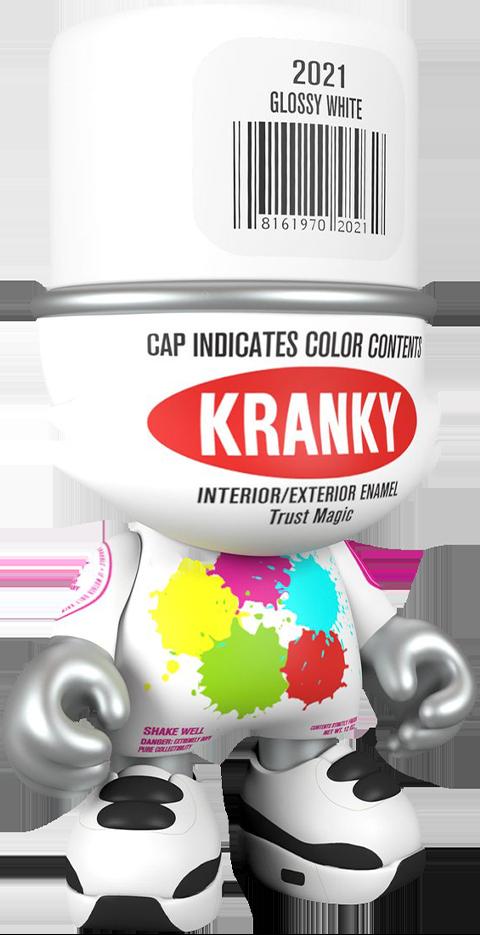 Superplastic Glossy White SuperKranky Designer Collectible Toy