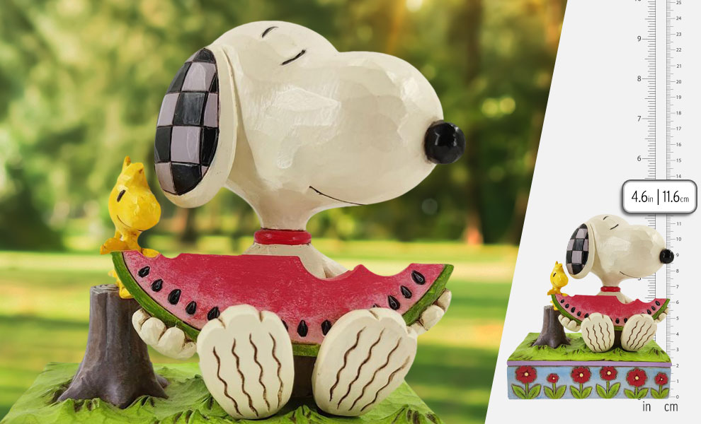 Gallery Feature Image of Snoopy Watermelon Figurine - Click to open image gallery