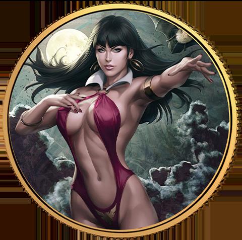 Dynamite Entertainment Vampirella (Stanley Artgerm Lau) #1 Gold Coin Gold Collectible