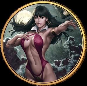 Vampirella (Stanley Artgerm Lau) #1 Gold Coin Gold Collectible