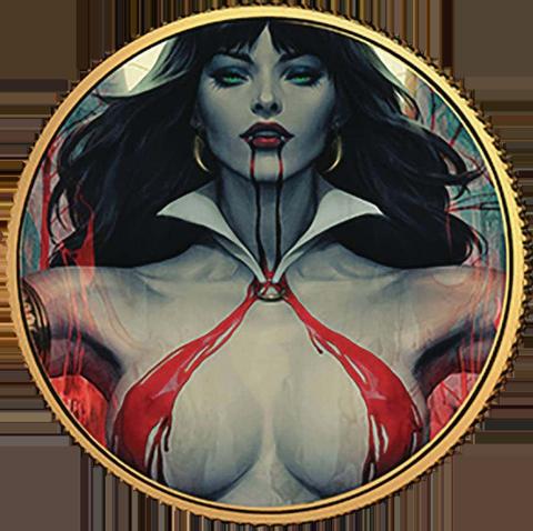 Dynamite Entertainment Vampirella (Stanley Artgerm Lau) #2 Gold Coin Gold Collectible