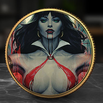 Vampirella (Stanley Artgerm Lau) #2 Gold Coin Gold Collectible