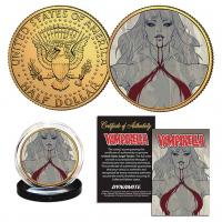 Gallery Image of Vampirella (Stanley Artgerm Lau) #2 Variant Gold Coin Gold Collectible