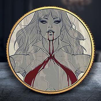 Vampirella (Stanley Artgerm Lau) #2 Variant Gold Coin Gold Collectible