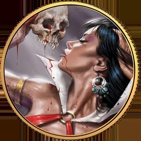 Dynamite Entertainment Vampirella (Lucio Parrillo) Gold Coin Gold Collectible