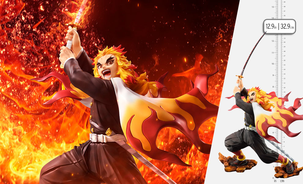 Gallery Feature Image of Kyojuro Rengoku Collectible Figure - Click to open image gallery