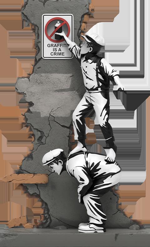 Mighty Jaxx Graffiti Crime Polystone Statue