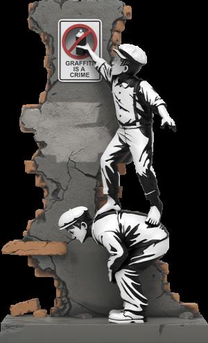 Graffiti Crime Polystone Statue