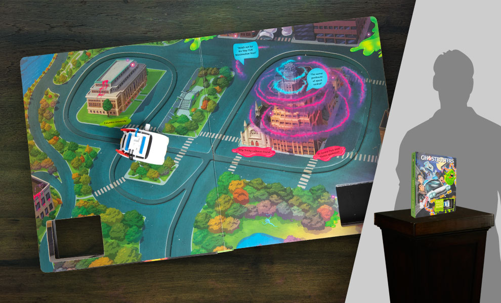 Gallery Feature Image of Ghostbusters Ectomobile: Race Against Slime Book - Click to open image gallery